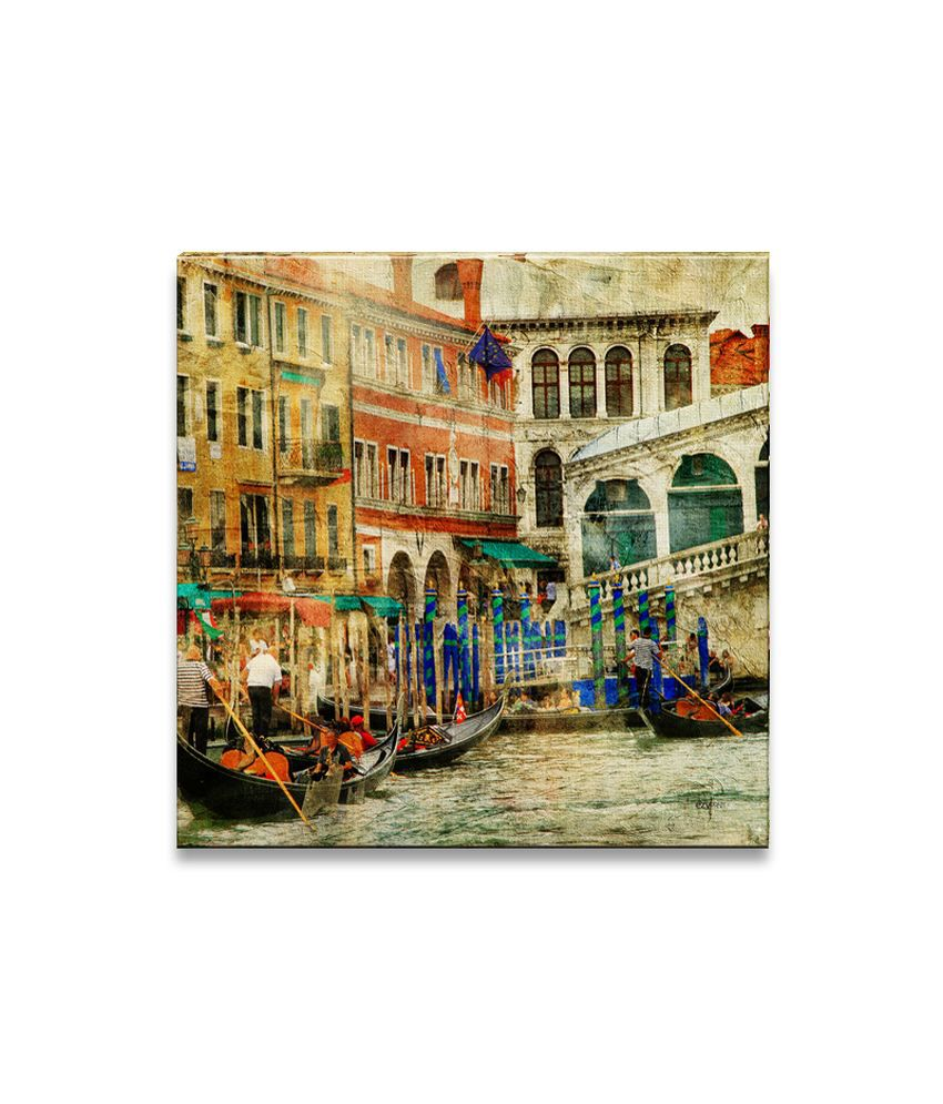 Ezyprnt Rialto Bridge Painting Wall Hanging