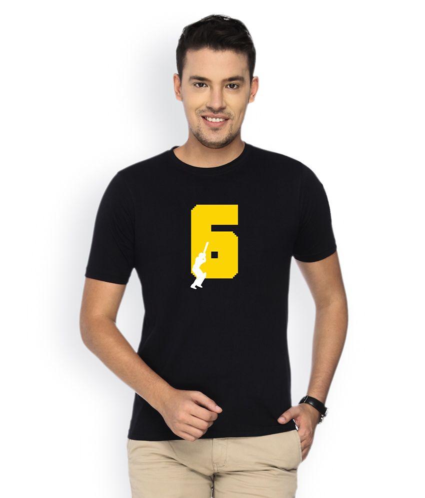 Campus Sutra Black Round Neck Tshirt Six