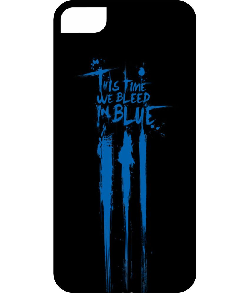 buy online 06c5e e1b7a Dot Print Back Cover For Apple Iphone 6 Plus Cricket Bleed Blue Graffti  Printed Case