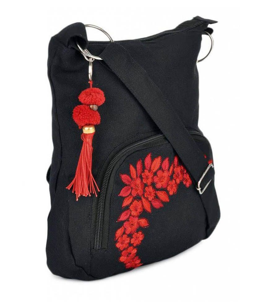 Pick Pocket Black Canvas Sling Bag - Buy Pick Pocket Black Canvas ...