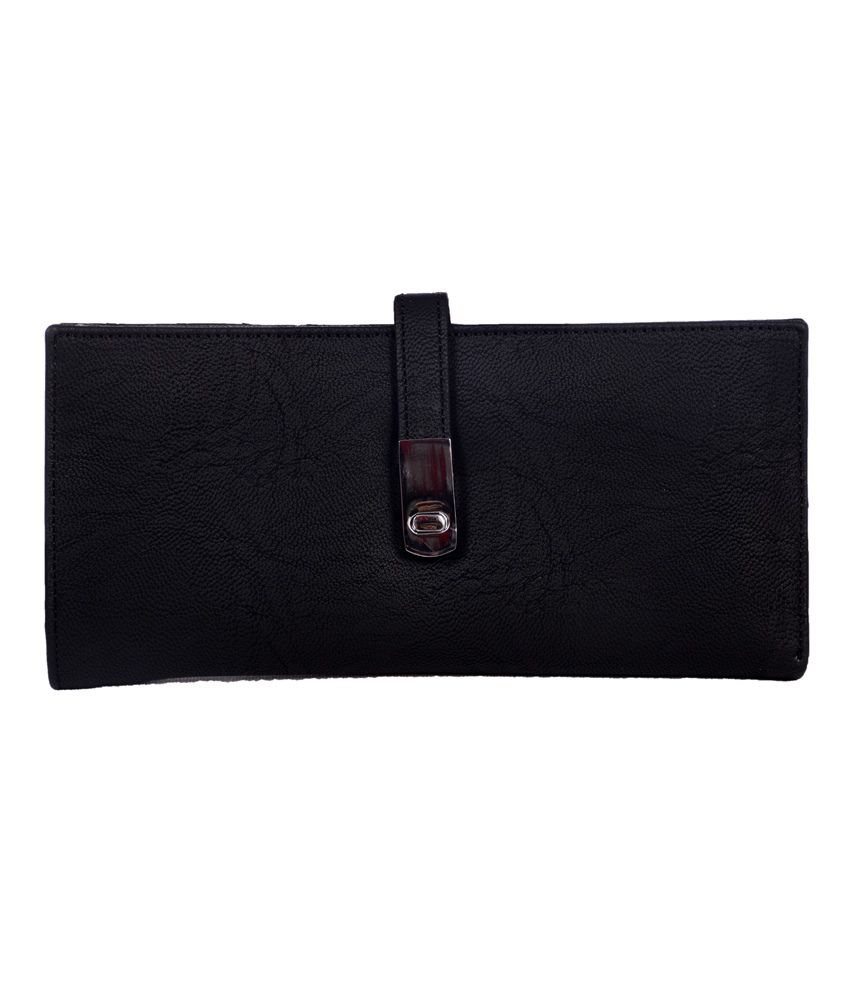 Top-zone Black Non Leather Women Fashionable Regular Wallet
