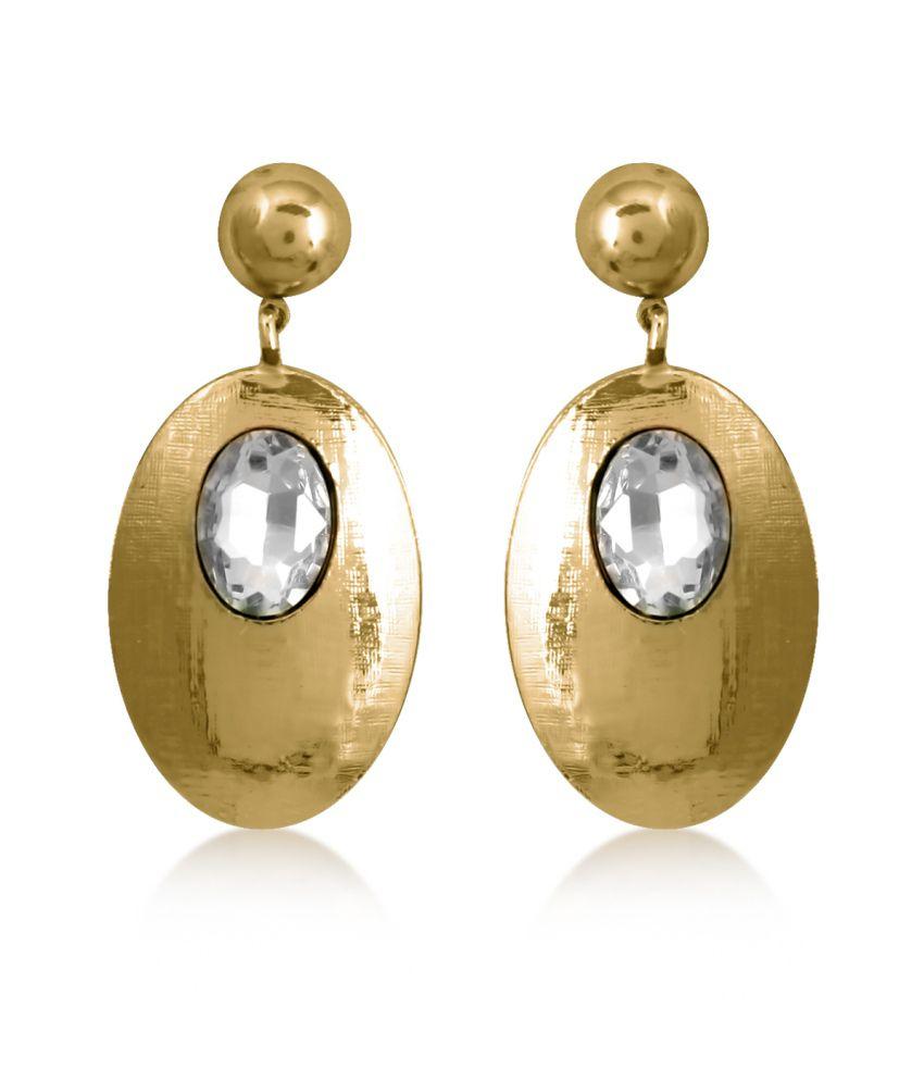 Big Tree Golden Oval Earrings For Women