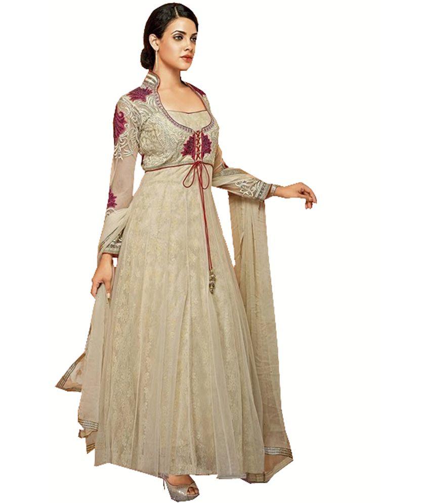 Ekhushi Multicolor Net Brasso Dress Material