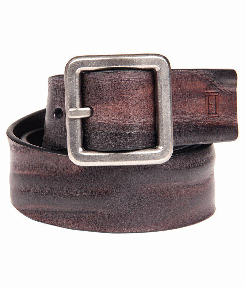 Franco Leone Black Casual Belt