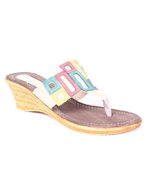 Ladies Comfort Brown Heeled Slip-on