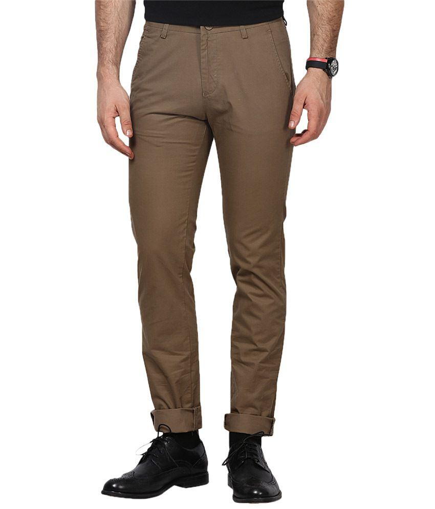 Richlook Khaki Cotton Trouser