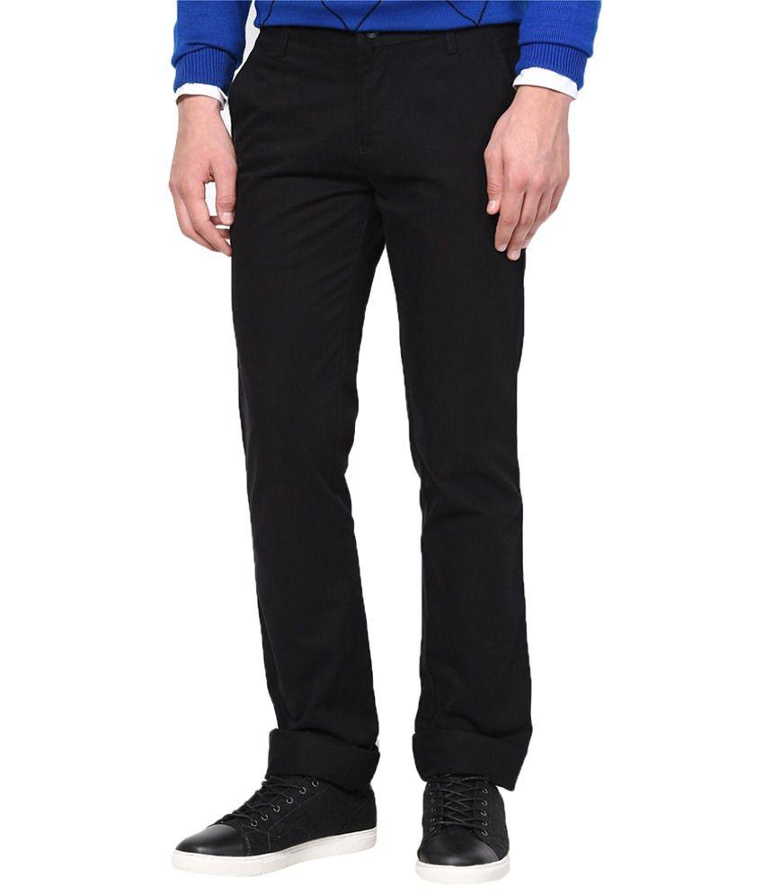 Richlook Wonderful Black Cotton Trouser