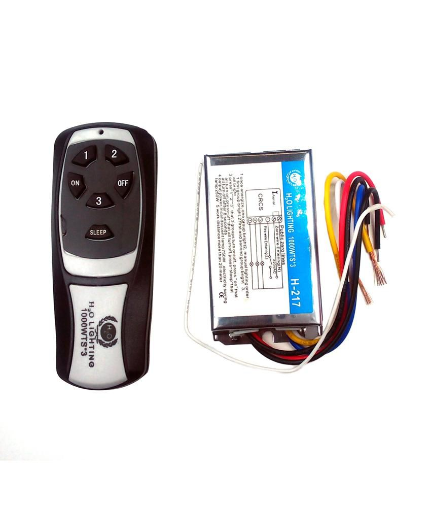Buy Smart Products Wireless Remote Control Switch For Fans And Light 3 Way