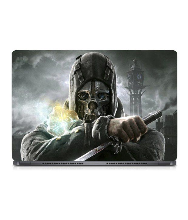 Advent Graphics Justice Dishonored Game 15.6 Inch Laptop Skin With Screen Protector & Keyboard Skin