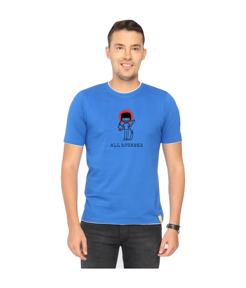 Campus Sutra Blue Allrounder T-shirt