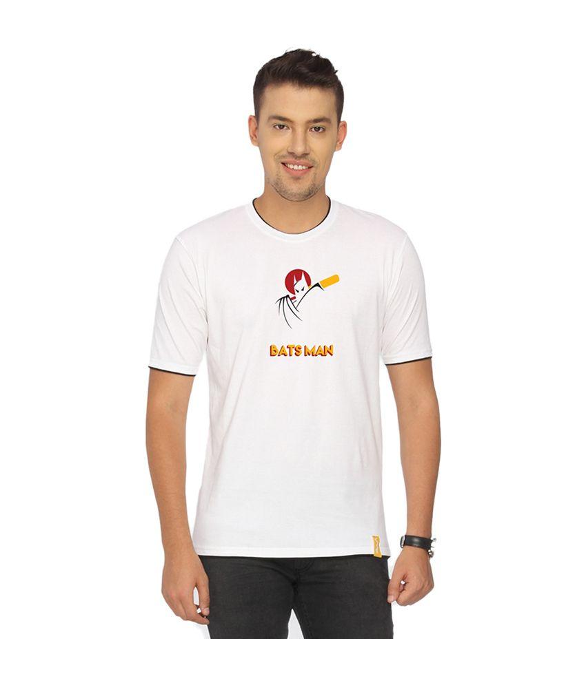 Campus Sutra White Batsman T-shirt