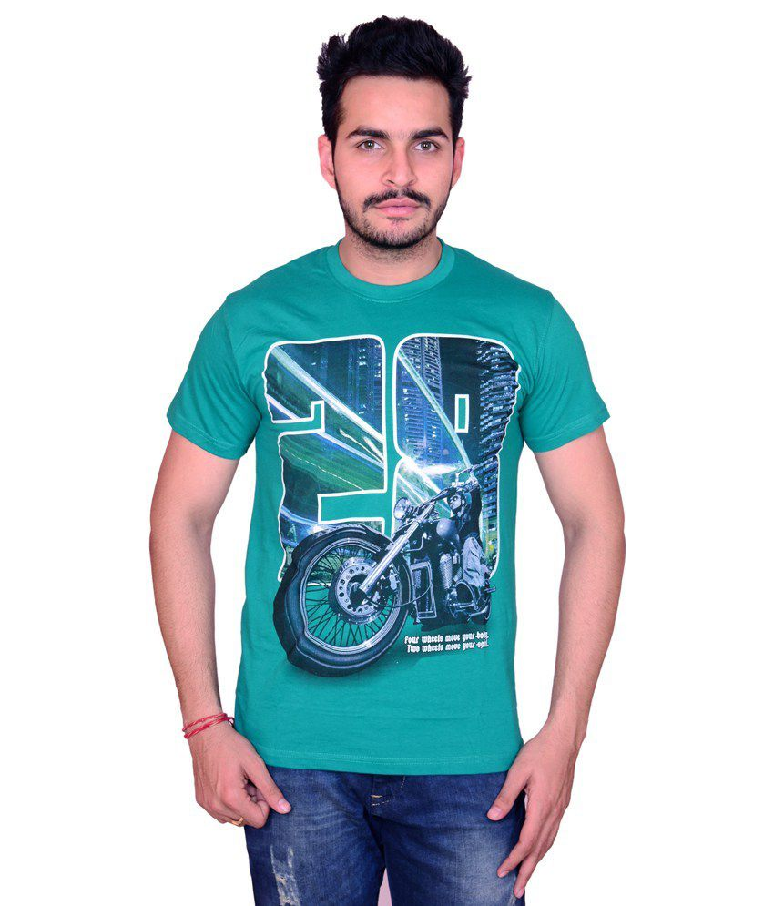 Cotton Green Biker T-shirt