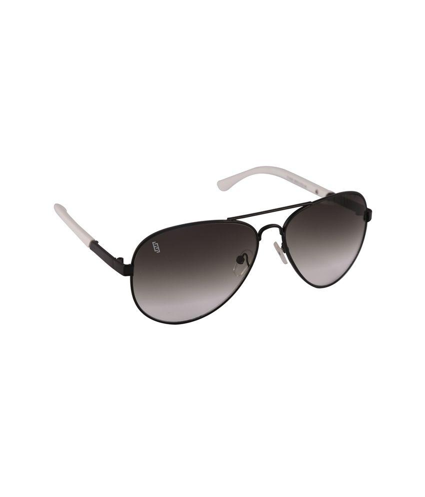 Esque Grey Aviator Sunglasses