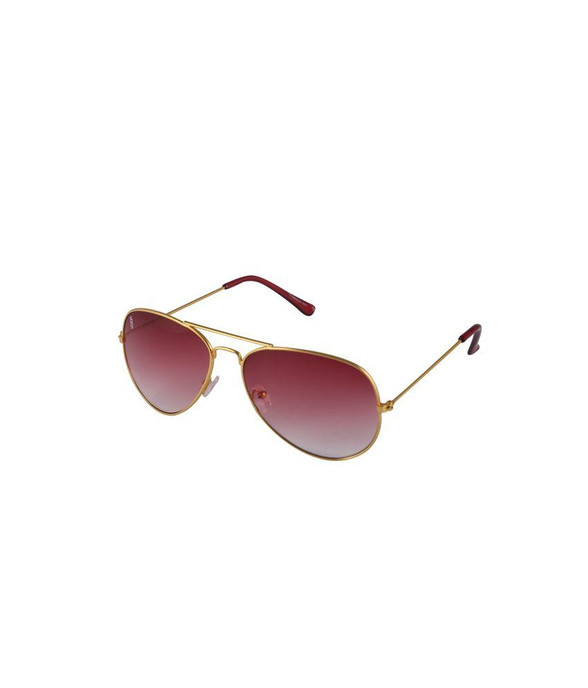 Esque Red Aviator Sunglasses