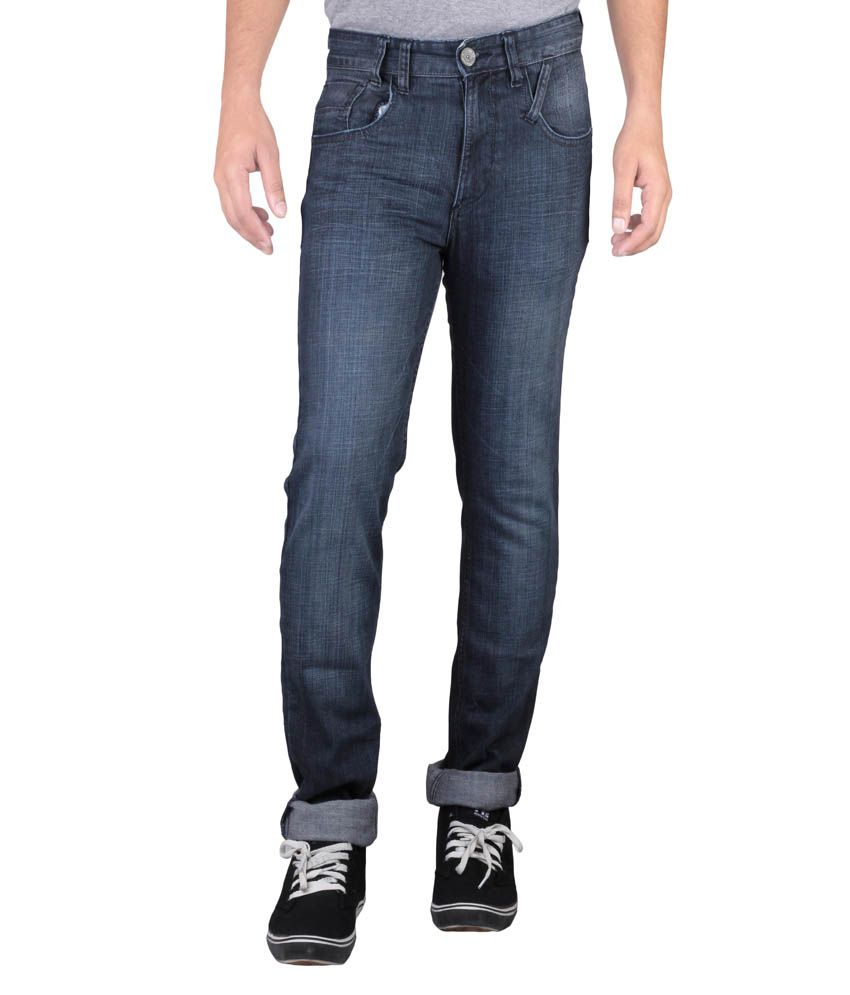 Hw Men's Non Stretch Regular Fit Denim Jeans - Blue