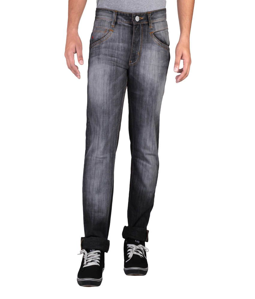 Hw Men's Non Stretch Regular Fit Denim Jeans - Gray