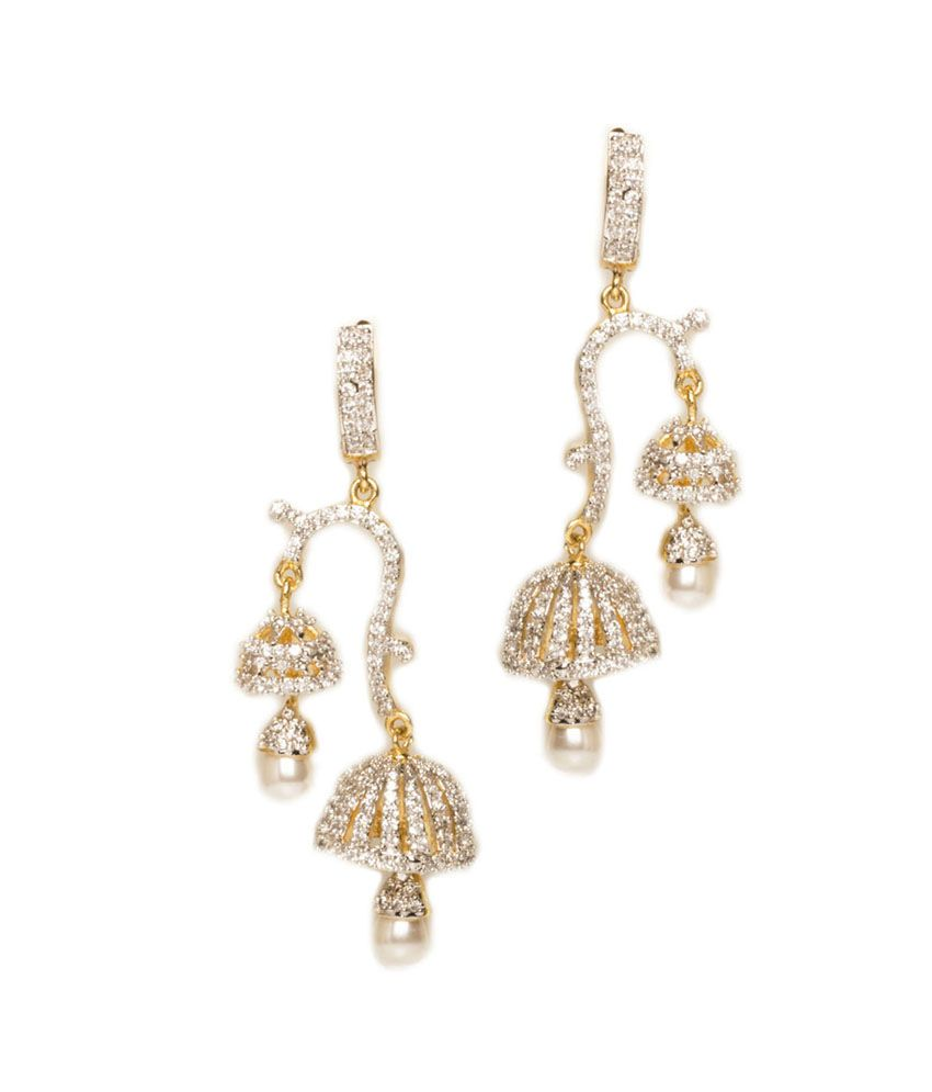 diamond jhumkas with jumkis diamonds kasuharam junki jhumka collection latest