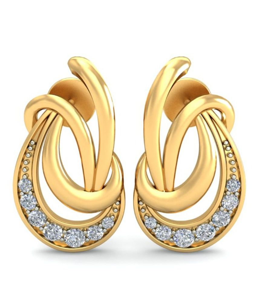 Demira Jewels Anastasia Natural Diamonds & 18kt Gold Earring 100%Certified