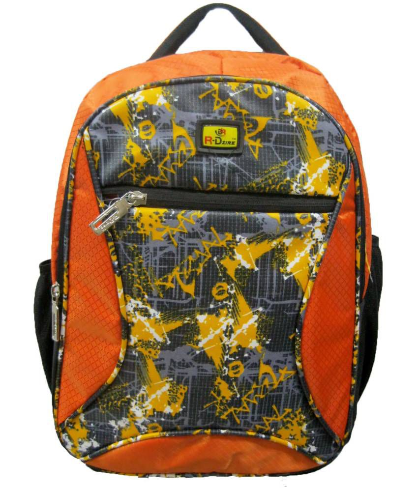 R-dzire Orange Rangoli Backpack