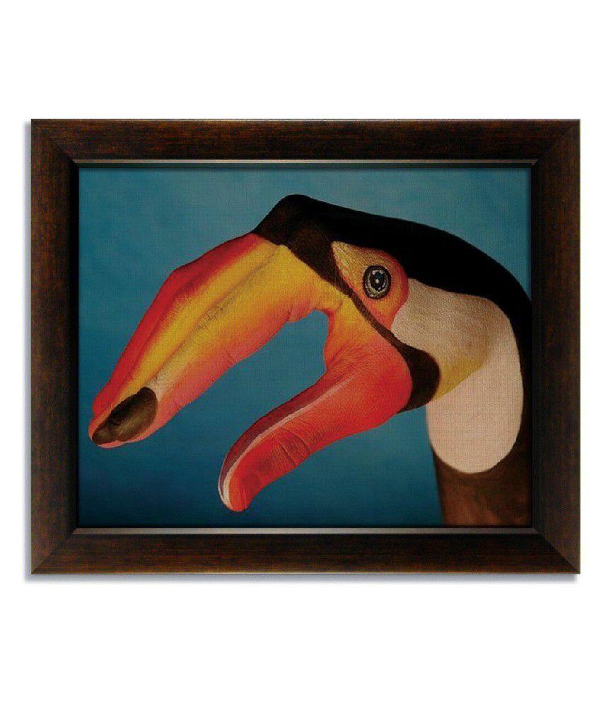 Stybuzz Bird On Hand Frameless Canvas Painting