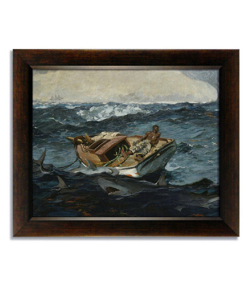 Stybuzz Boat In Tides Frameless Canvas Painting