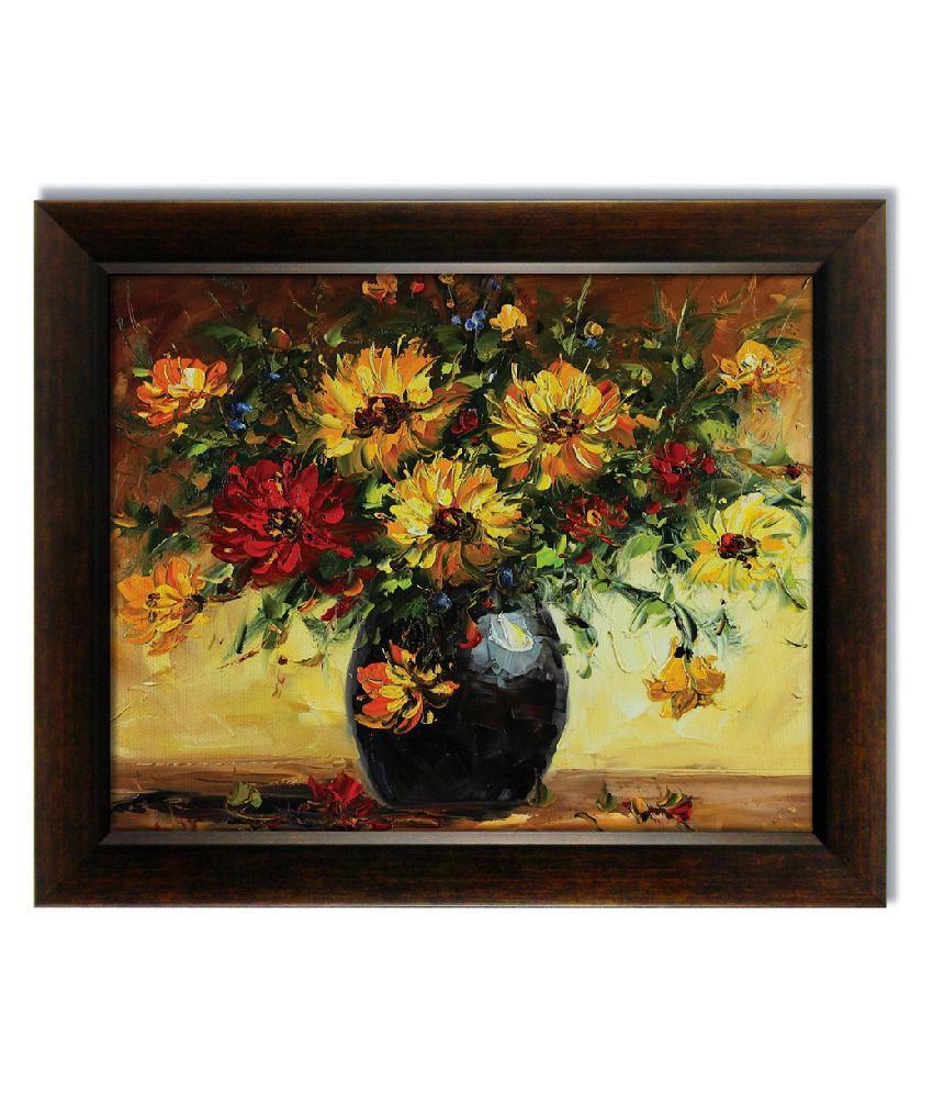 Stybuzz Flowerpot Frameless Canvas Painting