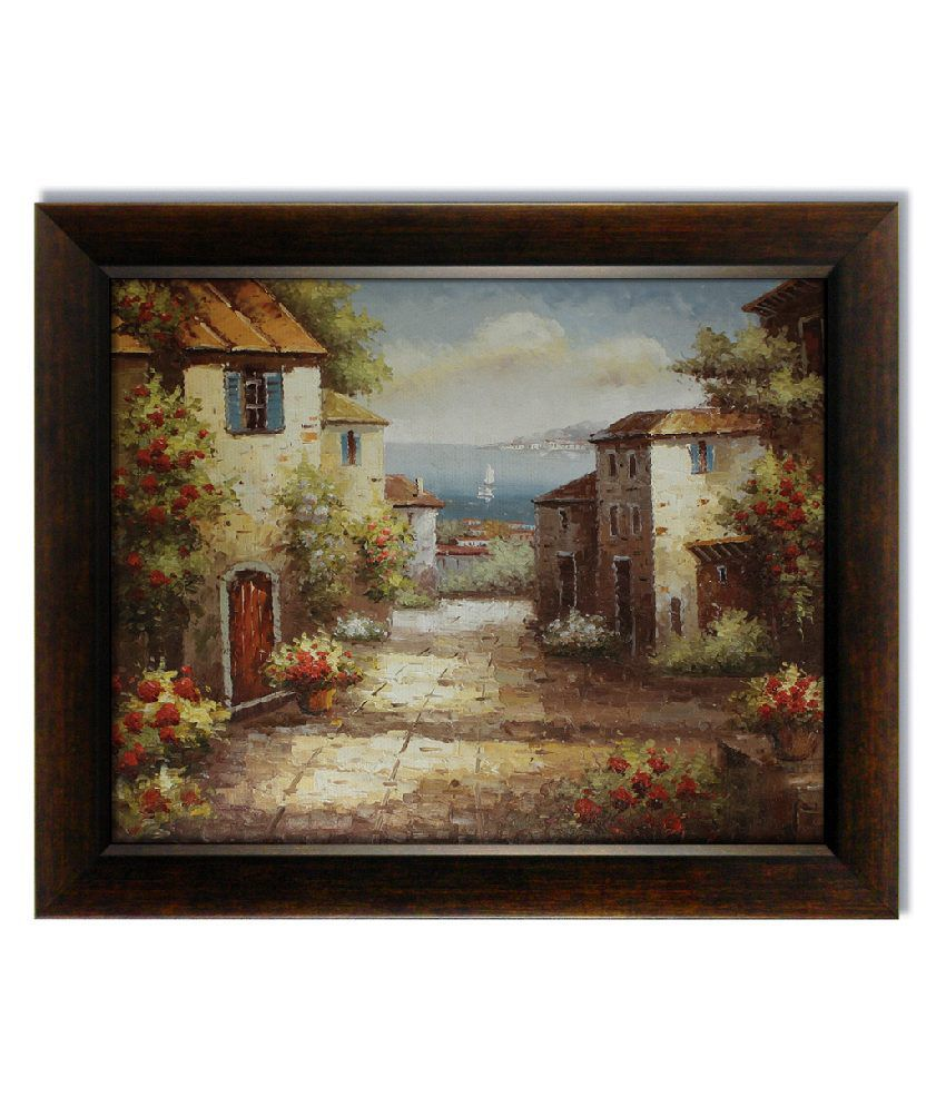 Stybuzz Street View Frameless Canvas Painting