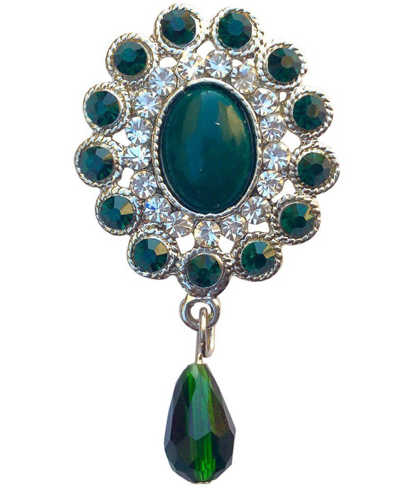 B-fashionable Green Oval Brooch