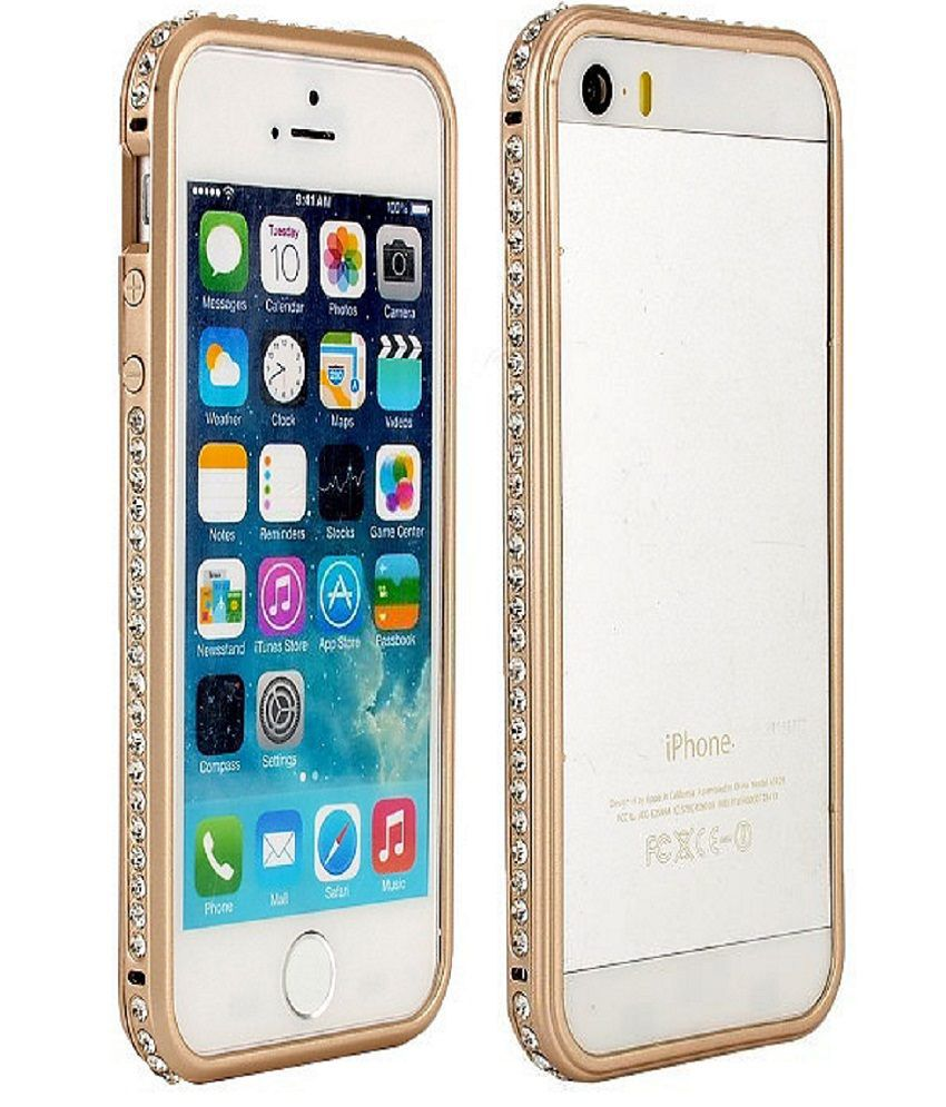 NEW BUMPER CASE FOR IPHONE 5S GOLD INDIA | Case