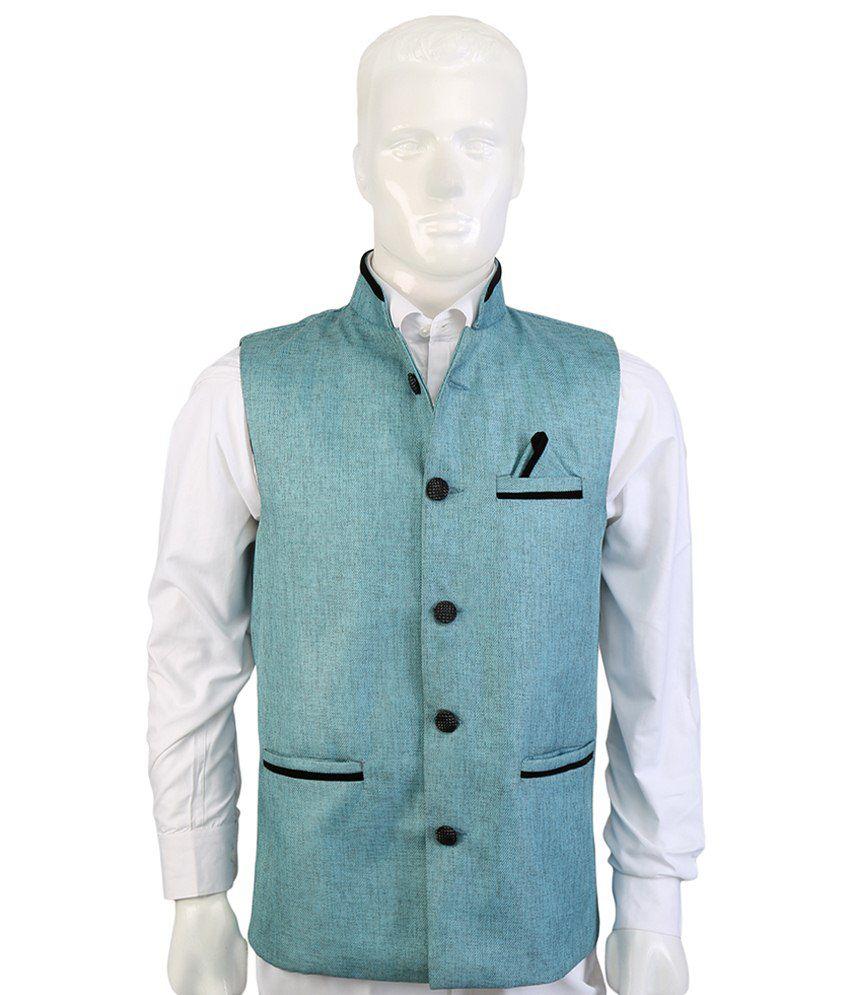 Selfieseven Classy Blue Waistcoat
