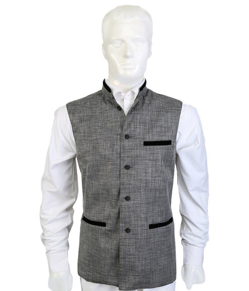 Selfieseven Elegant Gray Waistcoat