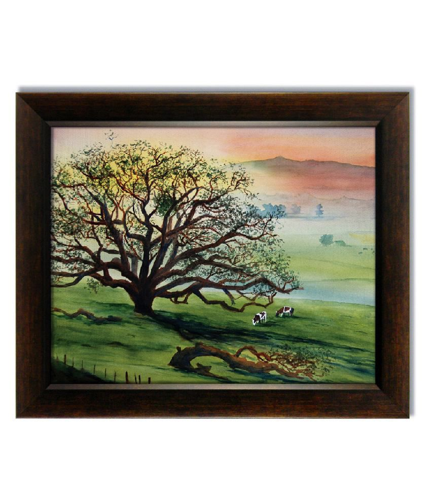 Stybuzz Old Tree Frameless Canvas Painting