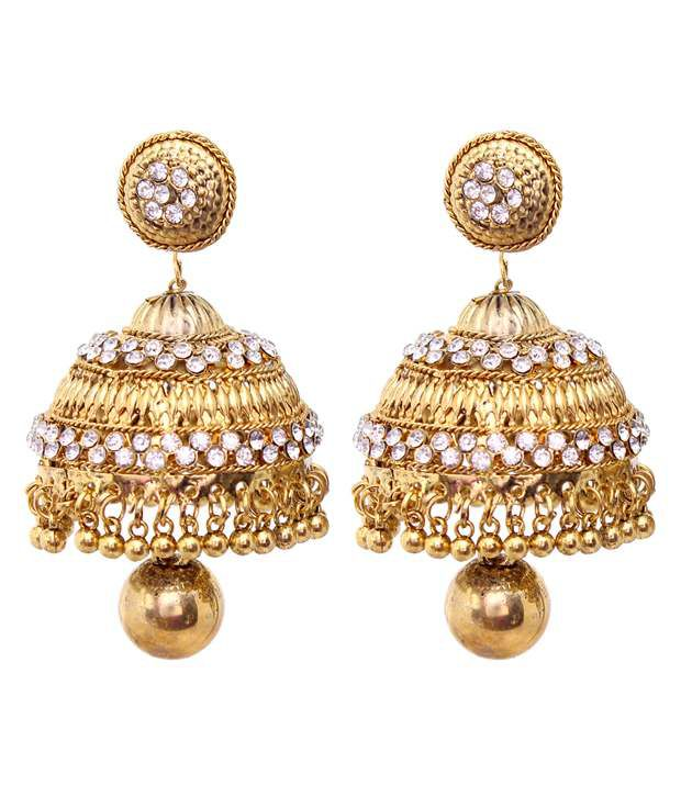 Vendee Fashion Latest Gold Jhumka Earrings 8454