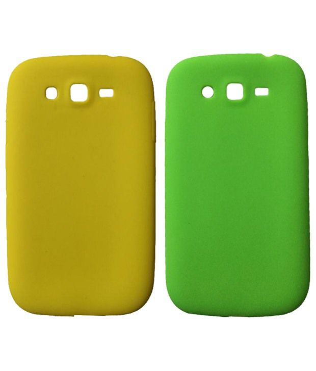 Winsome Deal Fantastic Samsung Galaxy Grand I9080 & I9082 Duos Silicon Back Cover Pack Of 2