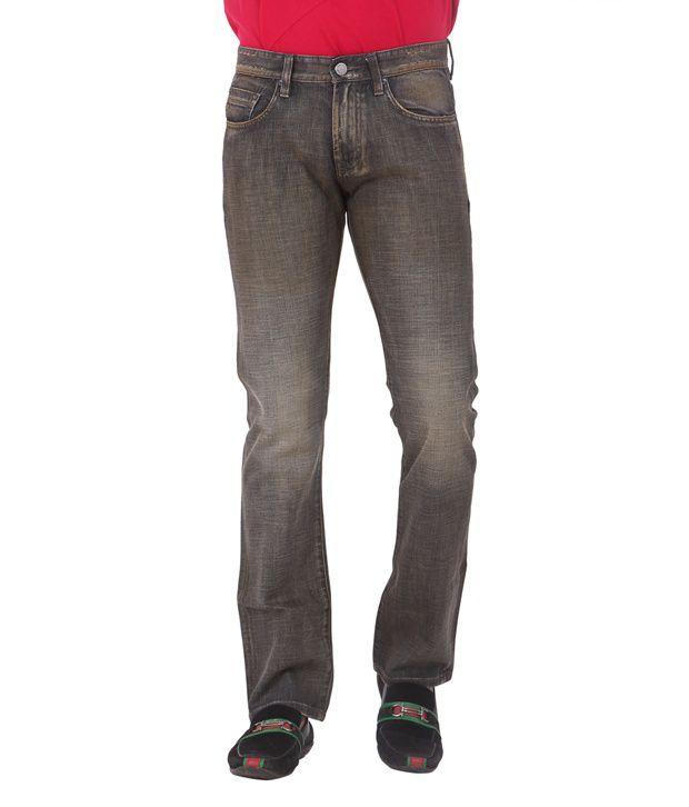 Dkny Black Cotton Regular Men's Jeans