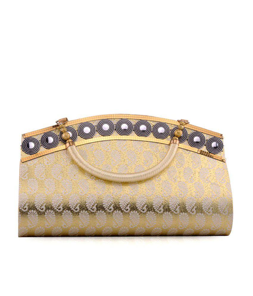 Fashion Dolchi Gold Magnit Button Satchel Bag