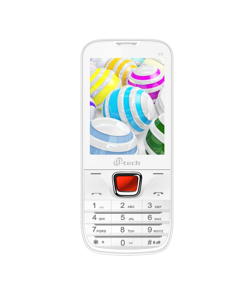 Mtech V6 White 16gb Expandable With Preloaded Facebook ,wireless Fm,led Torch