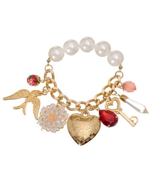 Sparkle Street Polished Hearts Bracelet