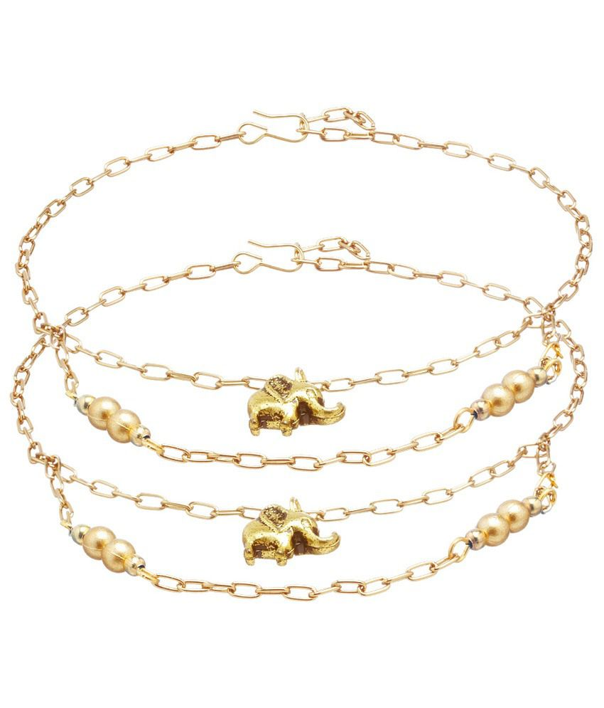Voylla Exquisite Gold Plated Anklets