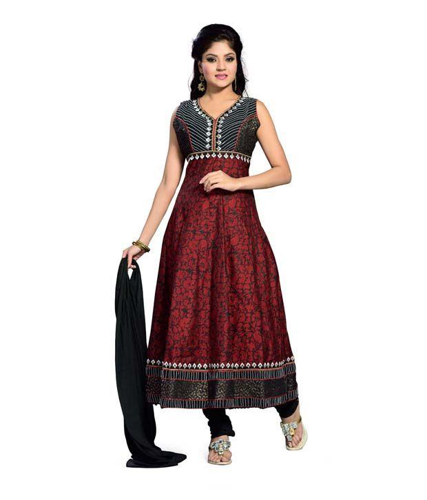 Aisha Multicolour Embroidered Cotton Regular Fit Salwar Suit