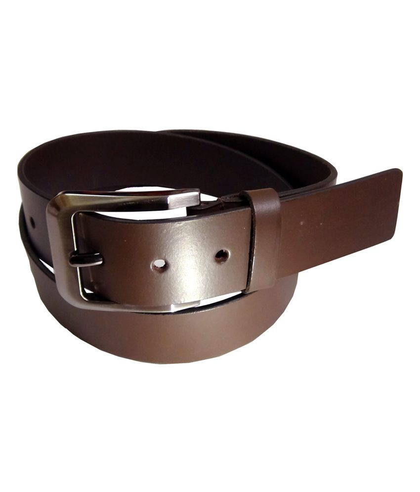 Manshkhino Brown Italina Leather Formal Belt