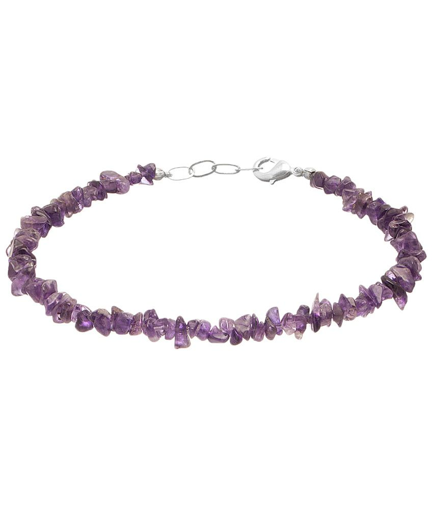 Voylla Voguish Silver Finished Coloured Bead Single Anklet