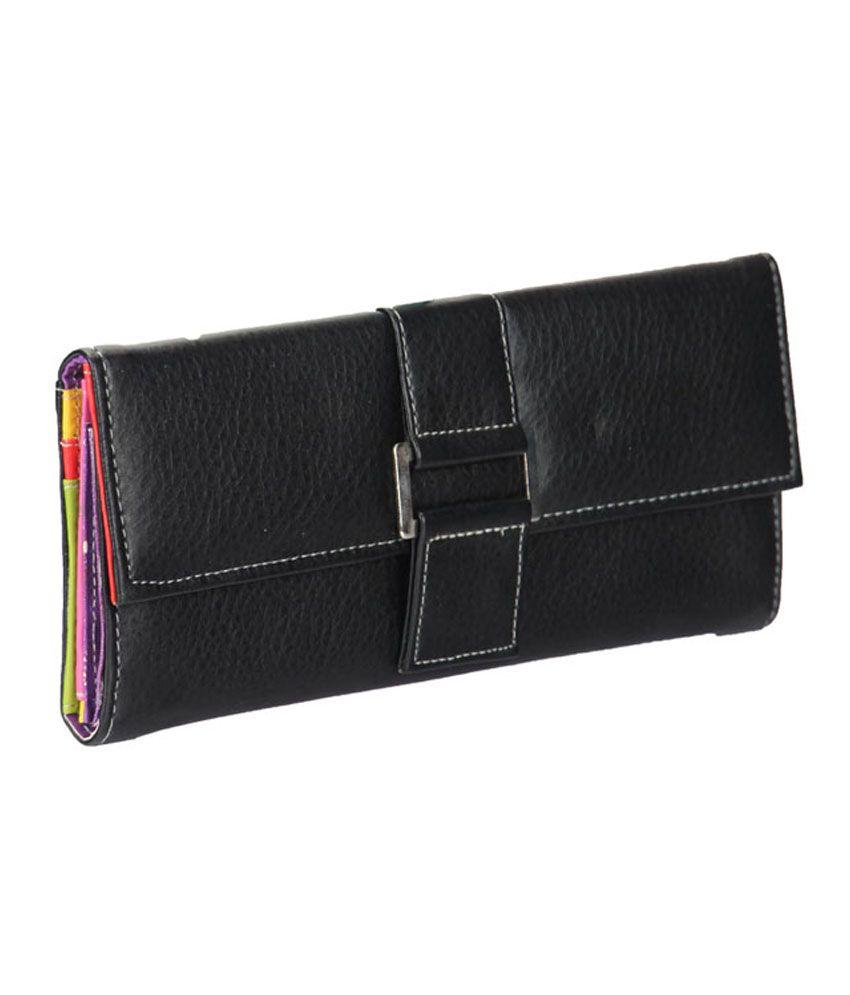 Adora Casual Black Ladies Wallet