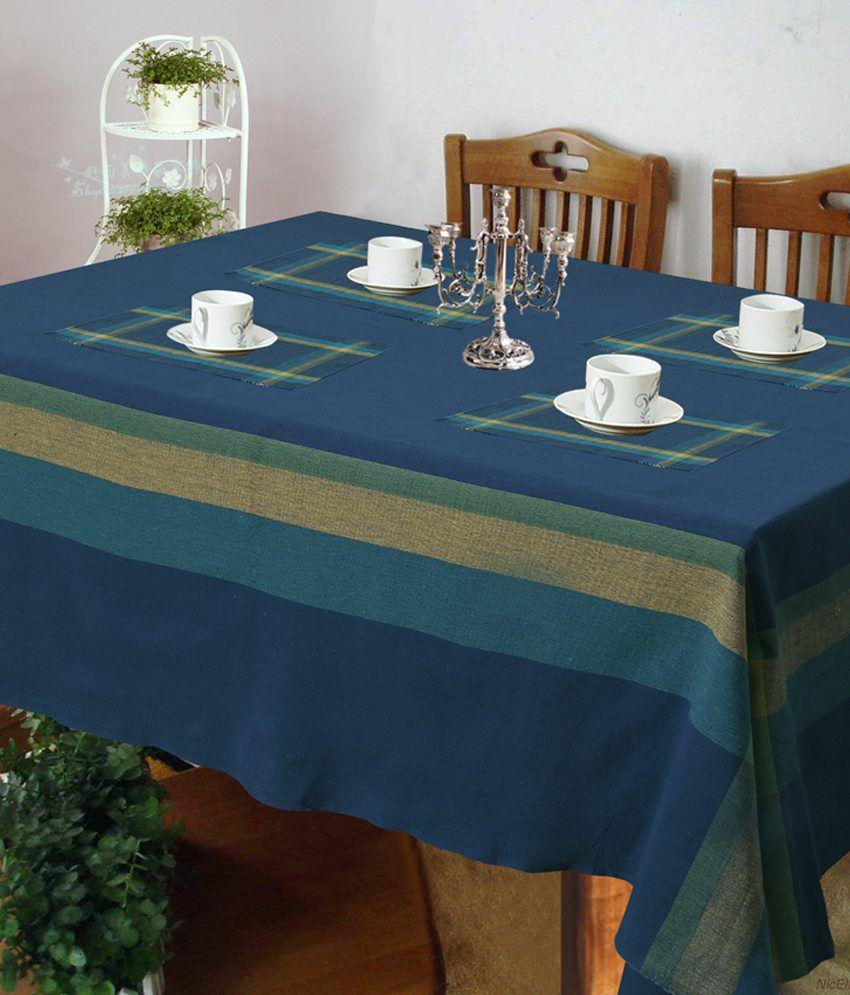 Kitchen Linen Set: Dhrohar Blue Stripes Kitchen Linen Set