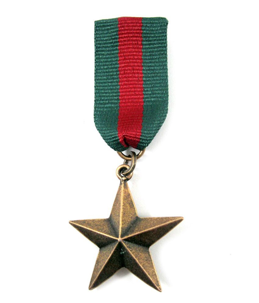 Streetsoul Fashion Military Medal / Badge Star Green