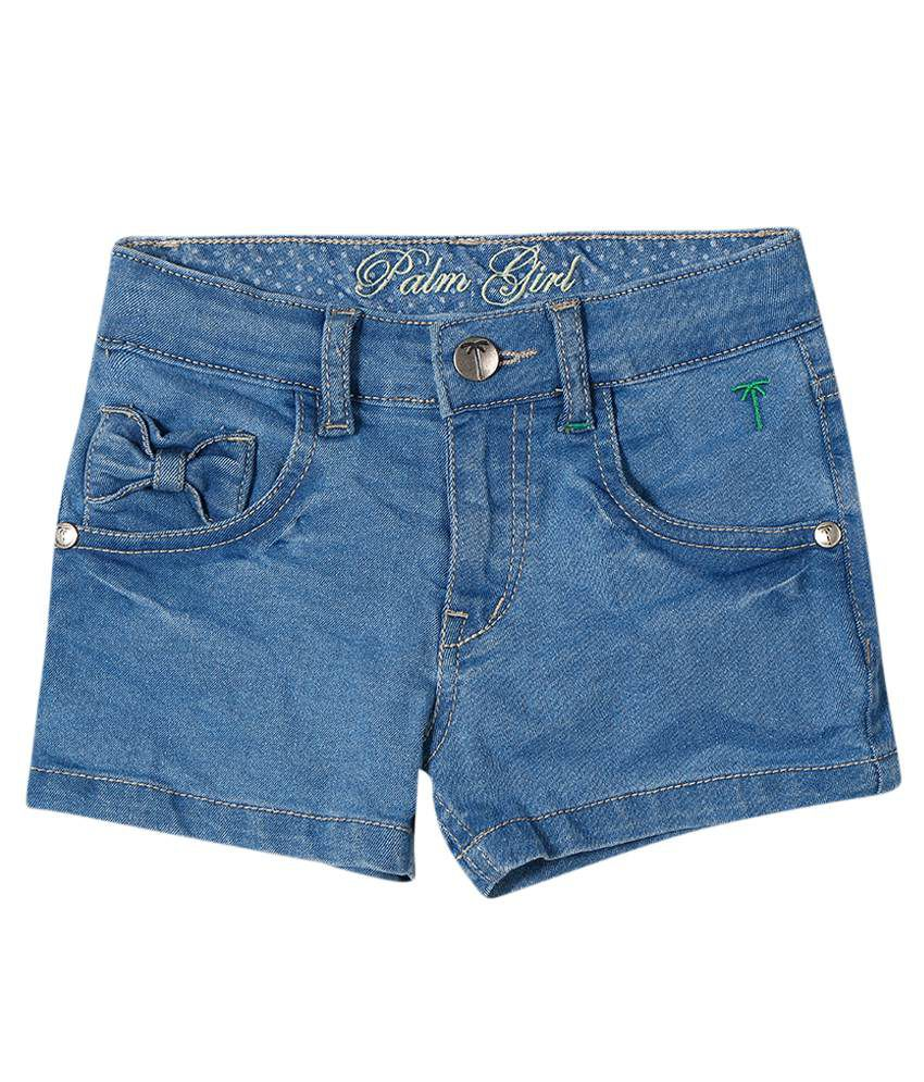 Gini & Jony Gray Blended Shorts