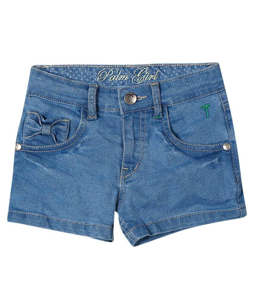 Gini & Jony Gray Blended Shorts