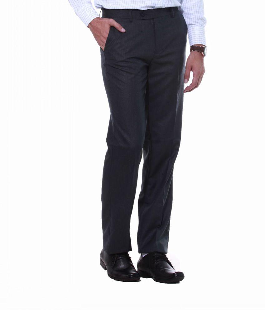 Sangam Apparels Decent Slim Fit Men's Navy Trouser