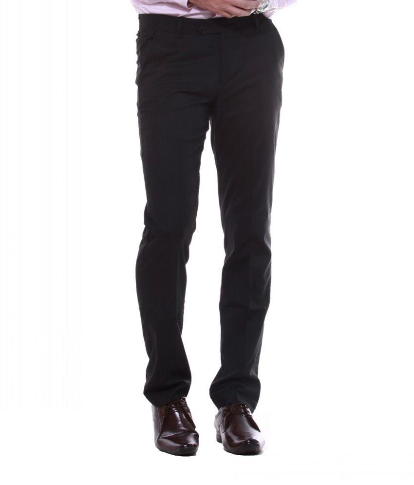 Sangam Apparels Incredible Slim Fit Men's Black Trouser