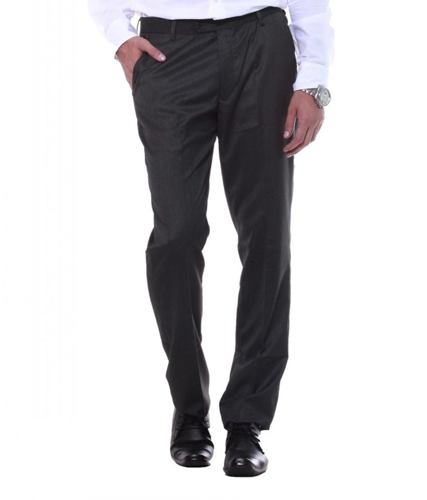 Sangam Apparels Snazzy Slim Fit Men's Charcoal Trouser